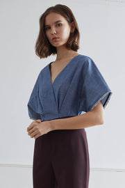 NIKKO Kimono Top with Tasselled Sleeves