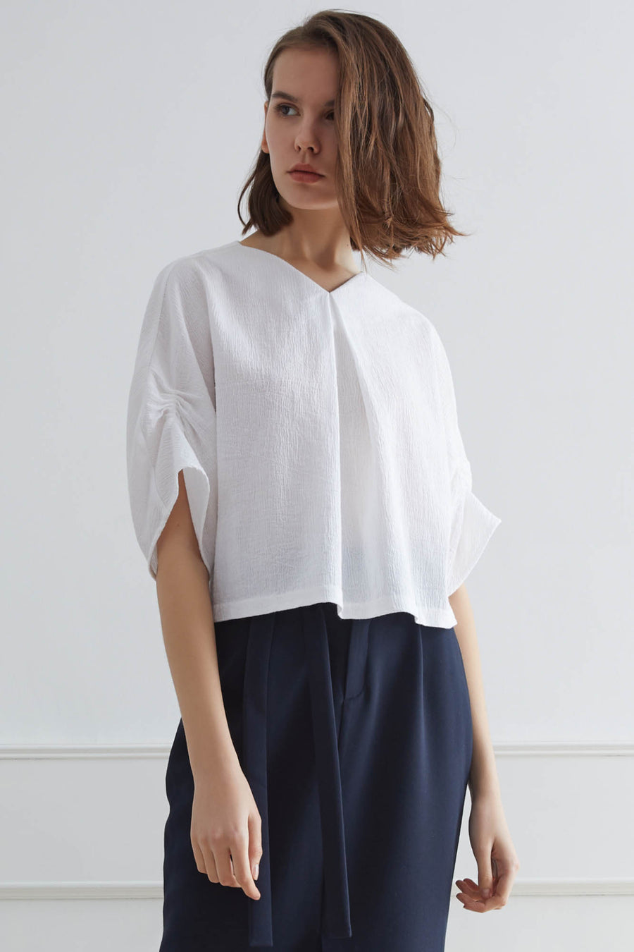 DAUPHIN Creased Sculpted Top