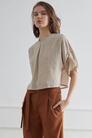 LYON Gauze Sculpted Top