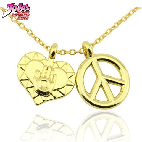 Josuke Heart and Peace Necklace