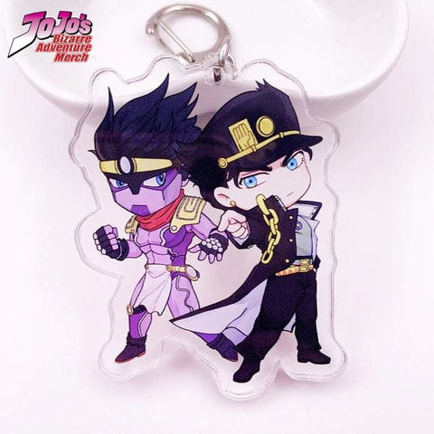 Jotaro and Star Platinum Keychain