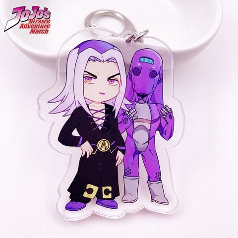 Leone Abbacchio and Moody Blues Keychain