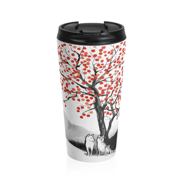 Persimmon Tree Stainless Steel Travel Mug
