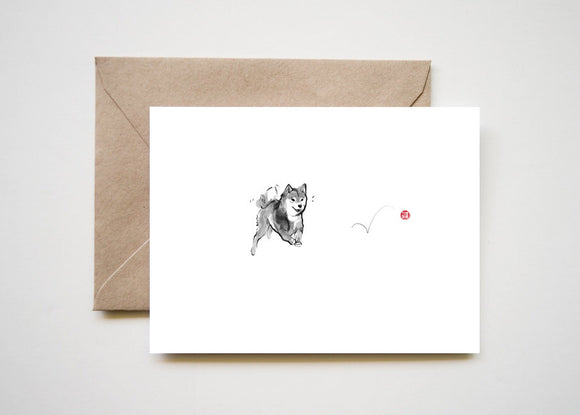 Shiba and Red Ball Cards Set of 8