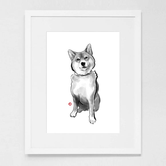 The Perfect Shiba Inu Art Print Poster