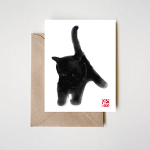 Sweet Black Kitty Greeting Card