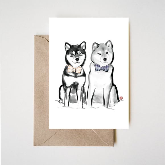 The Best Match Shiba Inu Greeting Card