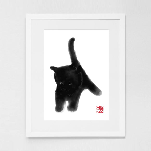 Black Kitty Art Print