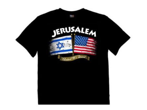 Remera  Jerusalem y United We Stand - Compraenisrael
