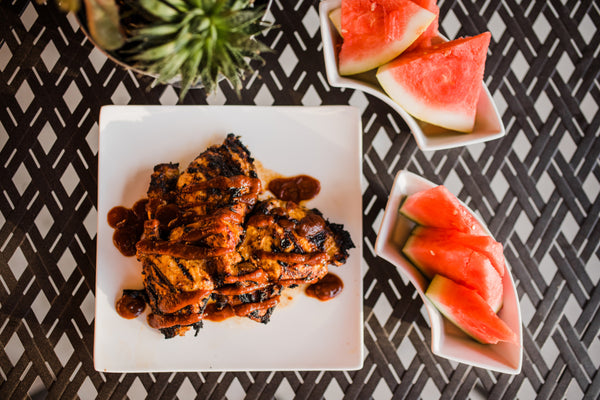 Easy Caramelized Barbecue Chicken Thighs with Portland Organic BBQ Sauce