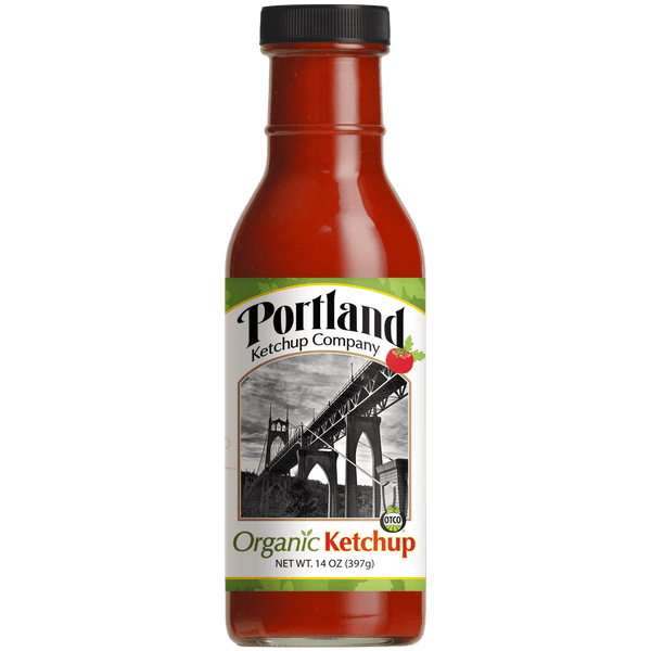 Single Bottle of Portland Organic Ketchup, gluten free, dairy free, non GMO condiment
