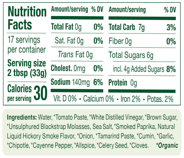 Portland Organic BBQ Sauce nutritional information: non-GMO, Vegan, dairy free