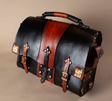 Load image into Gallery viewer, Leather Steampunk Bag