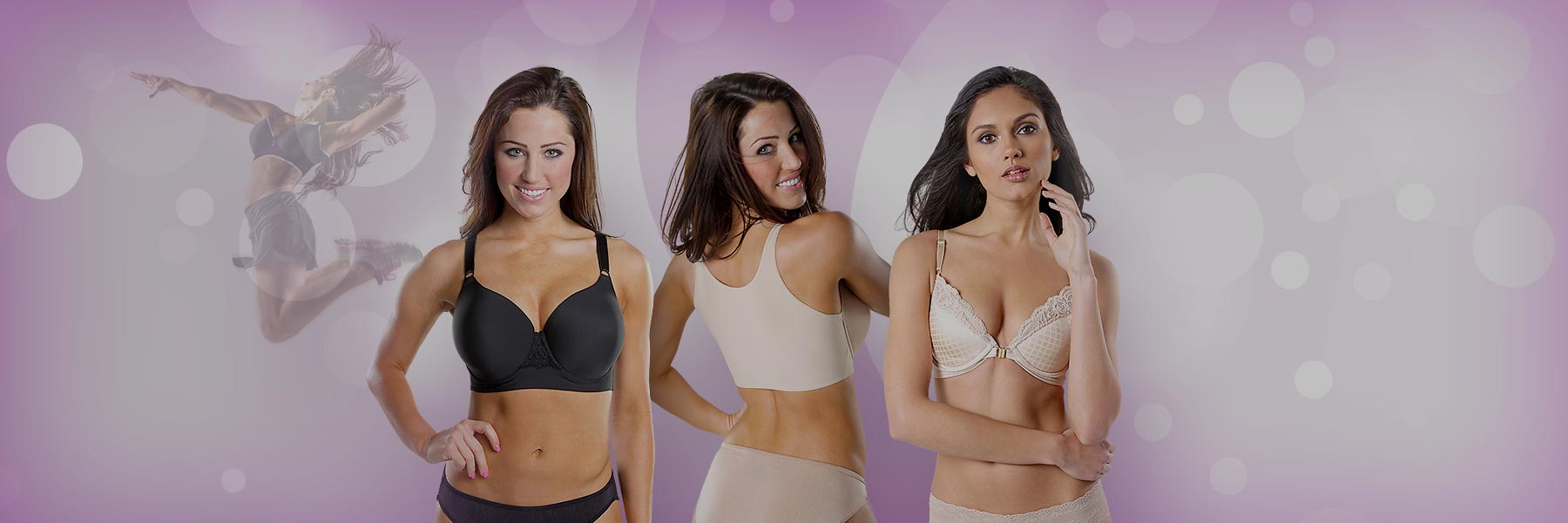 45182867f3 Cropped length Back Smoothing Bras with Underwire and No-slip ...