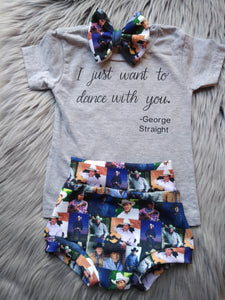 George Strait bummie outfit set