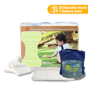 Bdiapers Newborn Hybrid with 30 Disposable Inserts