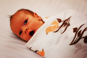 Birdflower Muslin Swaddle