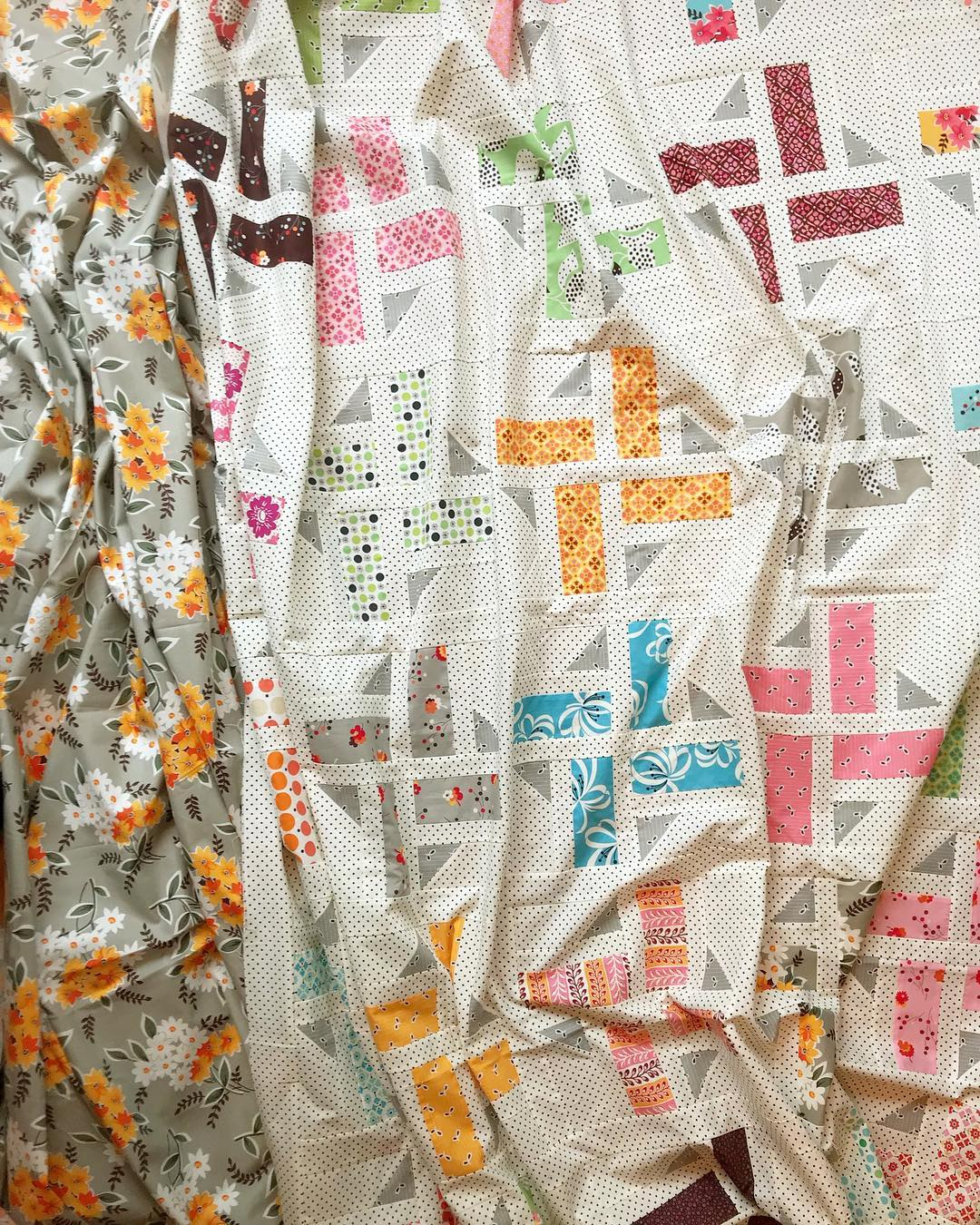 WIP Division quilt by Maker Valley / Holly Lesue. Quilt pattern by A Bright Corner