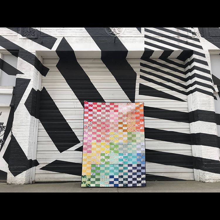 2x4 quilt in Portland, Oregon by Maker Valley / Holly Lesue