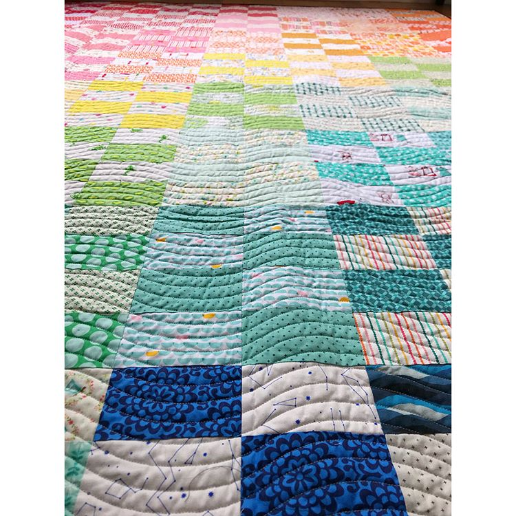 2x4 quilt by Maker Valley / Holly Lesue. Free pattern by Film in the Fridge