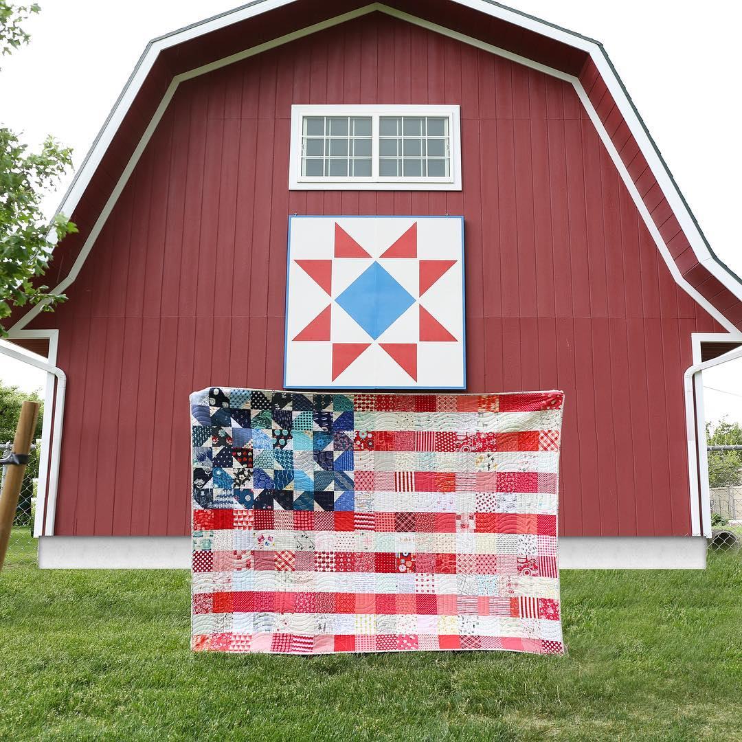 Yankee Doodle Dandy quilt pattern by Maker Valley / Holly Lesue