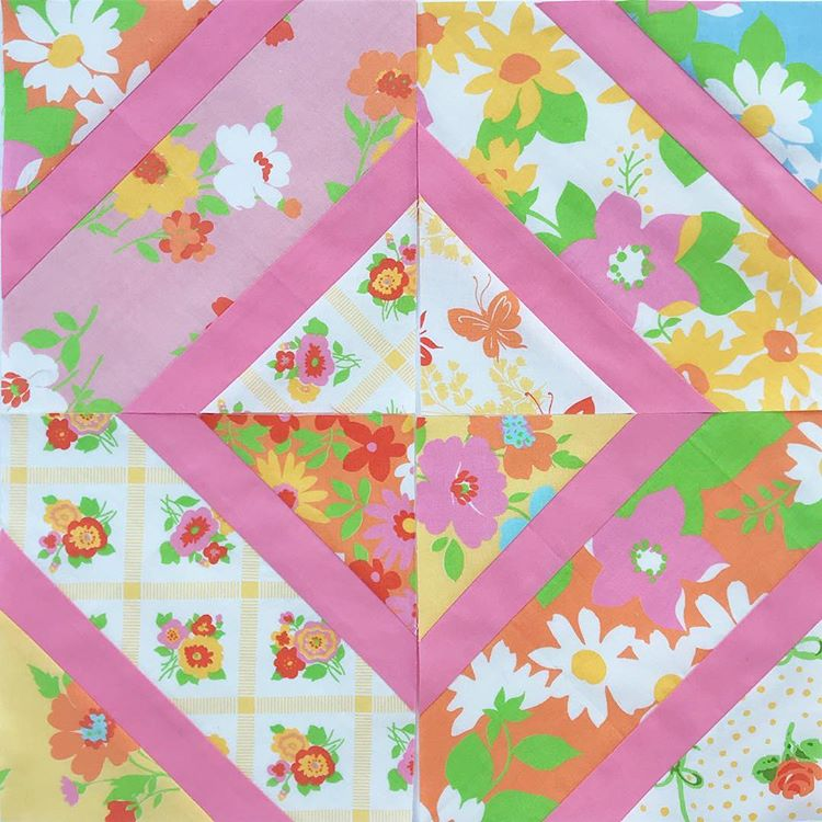 Quilt block by Maker Valley | Fabric: Dream On by Urban Chiks | Quilt pattern: Double Crossed by Diary of a Quilter