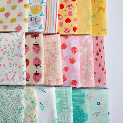 Fat Quarter bundle of fabric curated by Holly Lesue for Maker Valley