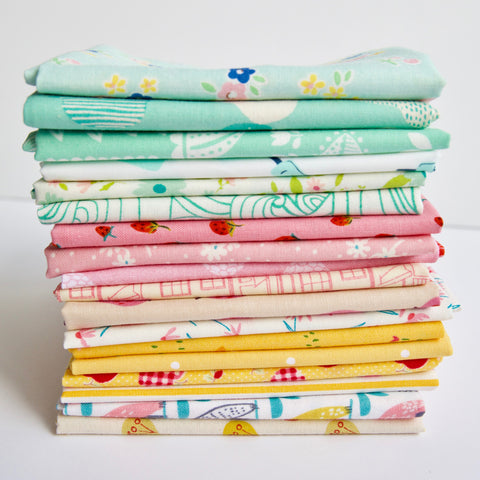 Scrappy Fat Quarter bundle of fabric curated by Holly Lesue for Maker Valley