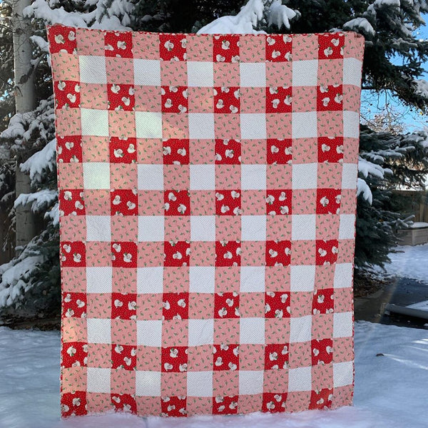 Christmas Buffalo Plaid quilt kit by Maker Valley