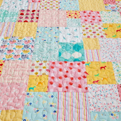 Fat Quarter Friday Quilt Pattern by Cluck Cluck Sew Made by Maker Valley