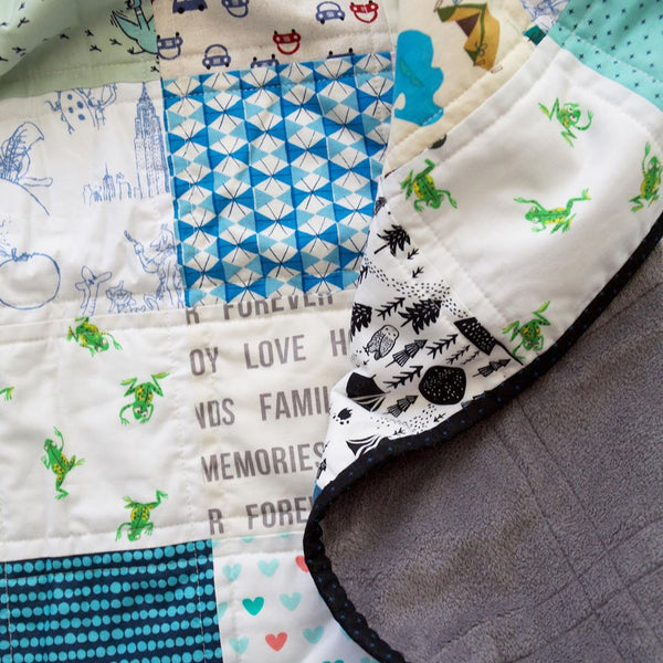 Patchwork Baby Quilt Kit by Maker Valley