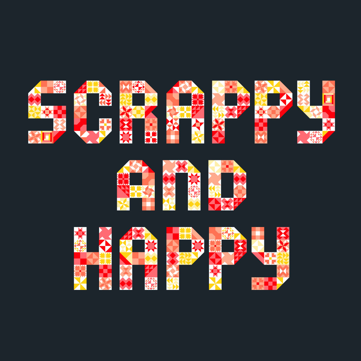 Scrappy and Happy t-shirt graphic design by Maker Valley