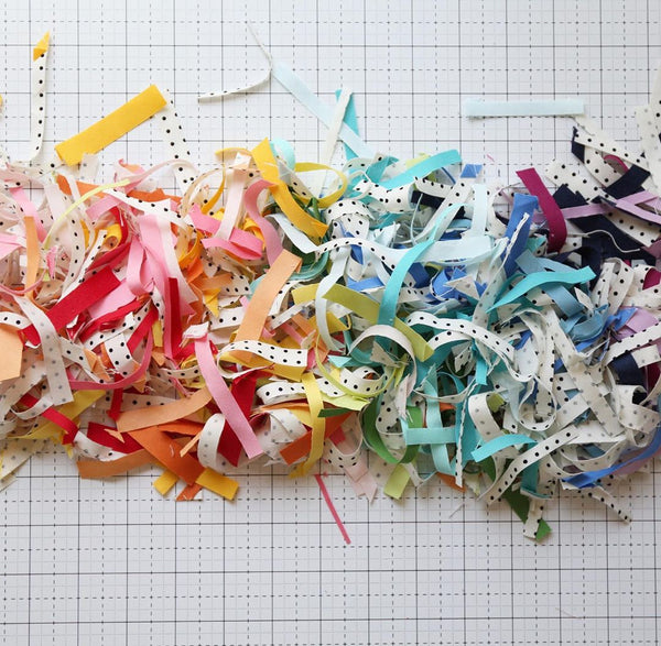 Scraps of Confetti Cotton Solids by Riley Blake Designs - Photo by Maker Valley