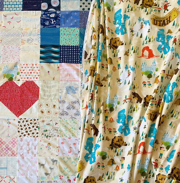 This is the Place Utah quilt by Maker Valley | Utah fabric by Riley Blake Designs