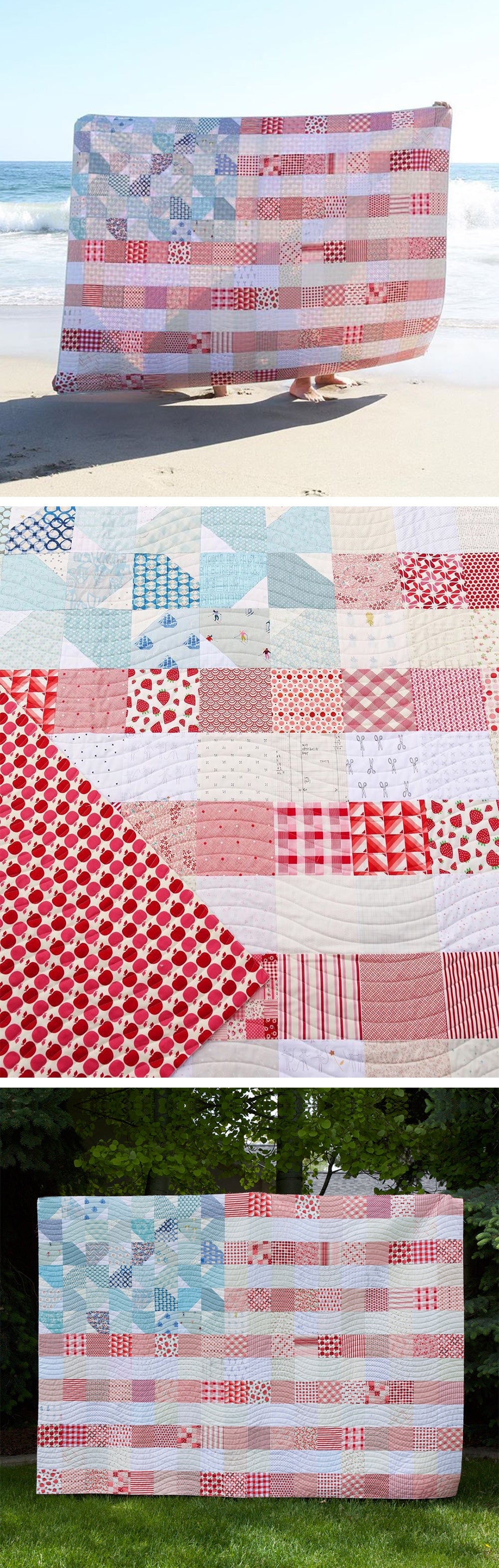 Yankee Doodle Dandy (USA Flag) Quilt Kit - Washed Out Version by Maker Valley