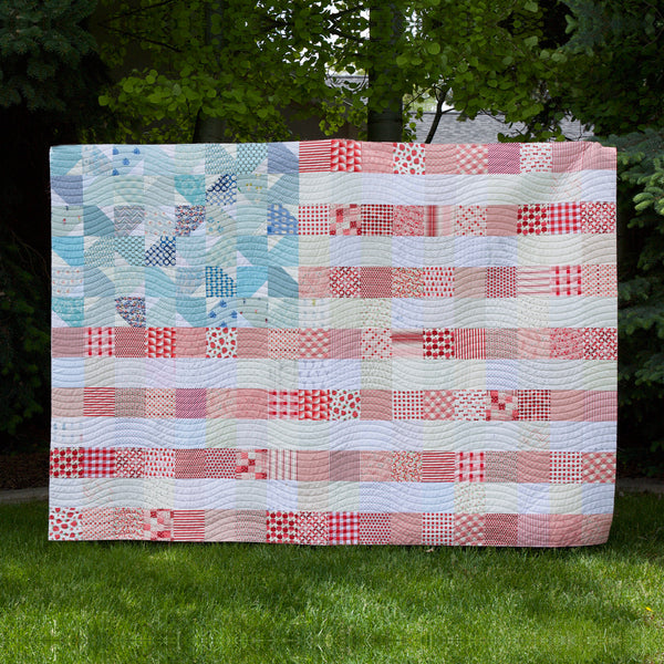 Yankee Doodle Dandy quilt kit (washed out version) by Maker Valley