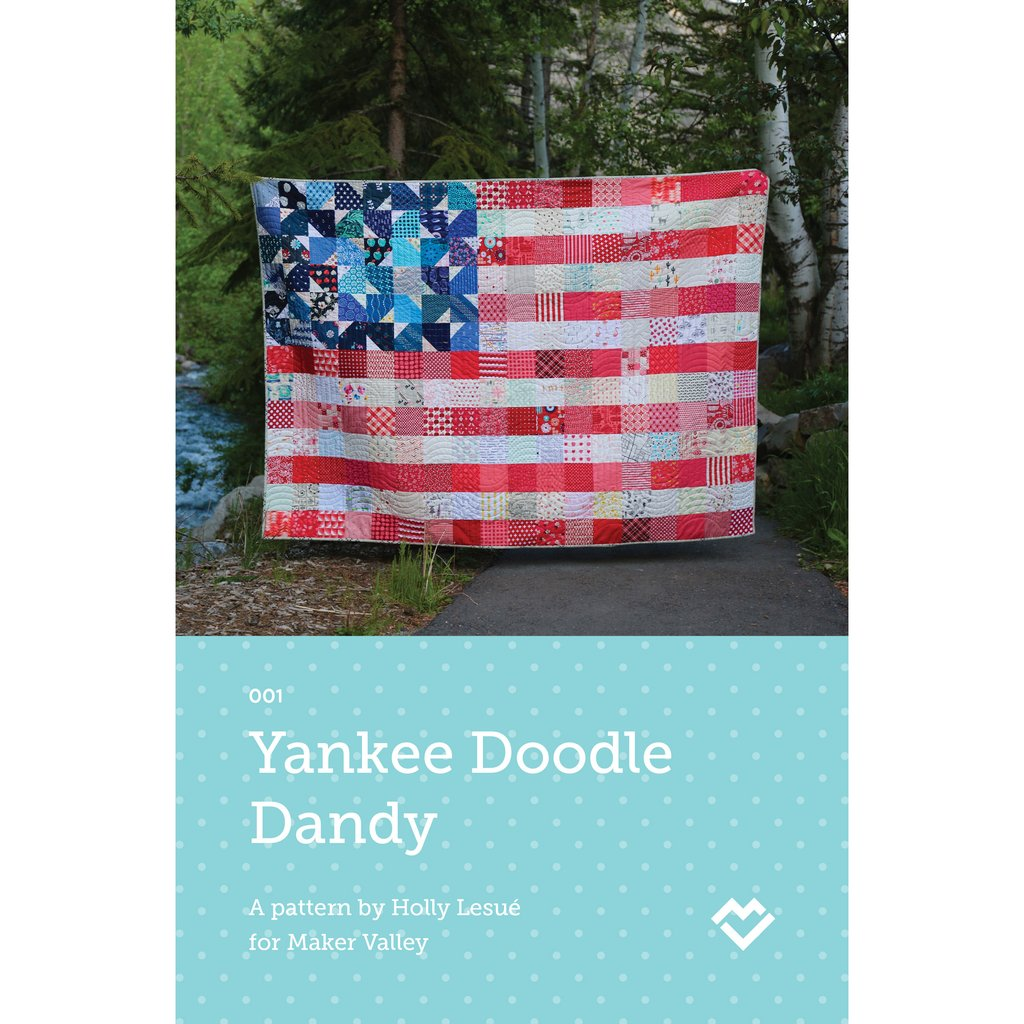 Yankee Doodle Dandy quilt pattern by Maker Valley