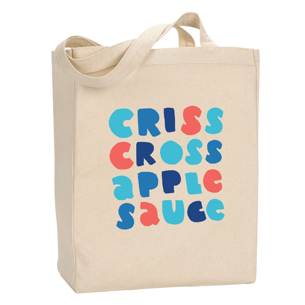 Criss Cross Applesauce Tote - Stately Type