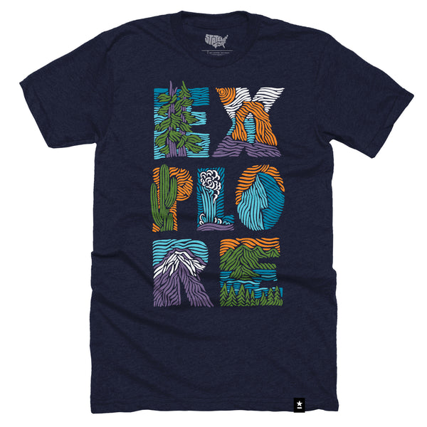 Explore National Parks T-shirt - Stately Type