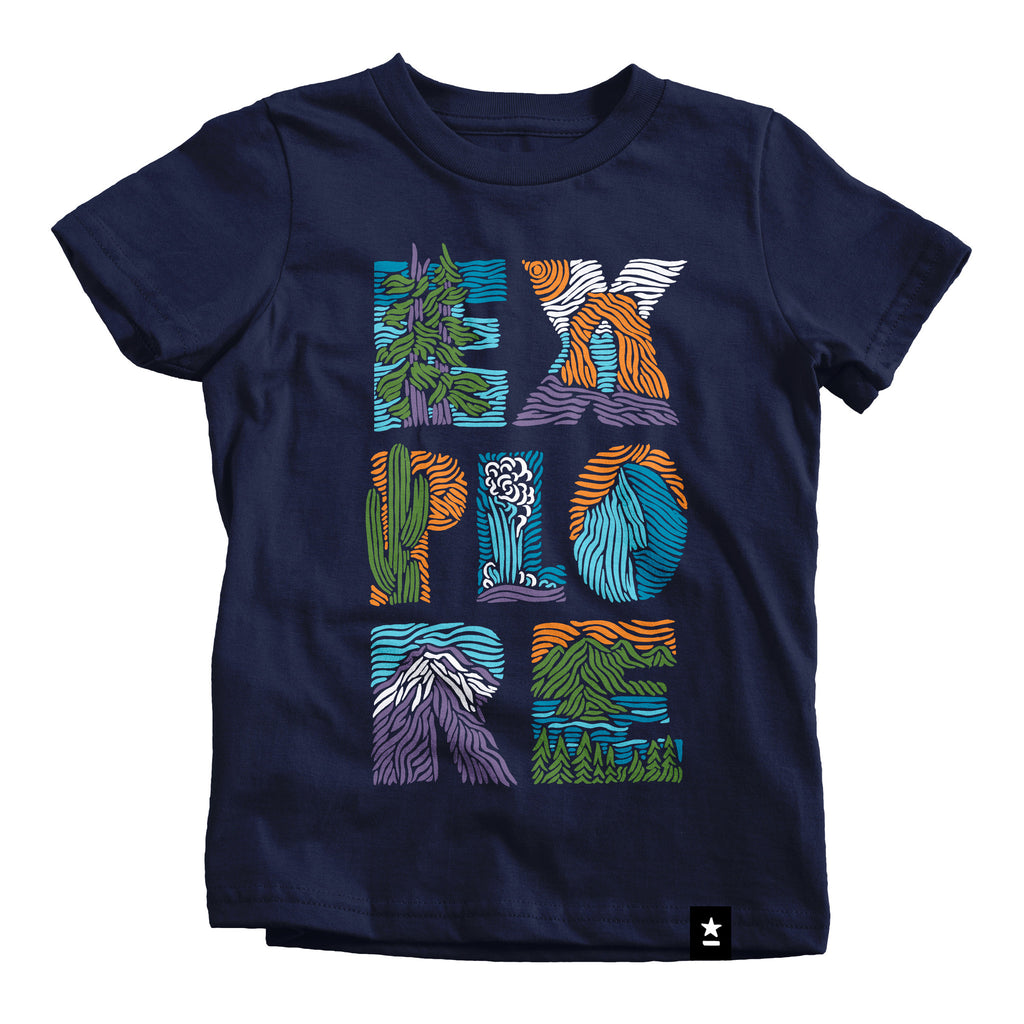 Explore National Parks T-shirt - Kids - The Outdoor Majestic