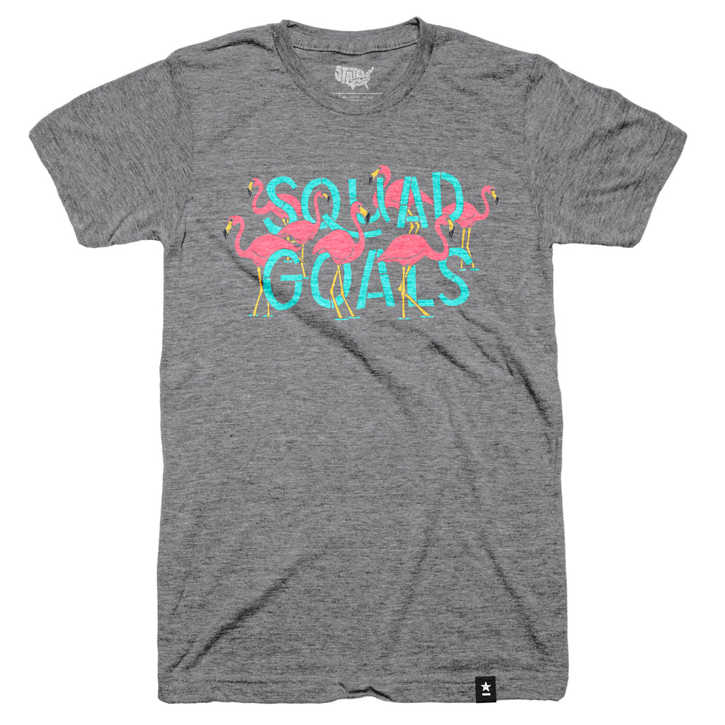 Flamingo Squad Goals T-shirt - Stately Type