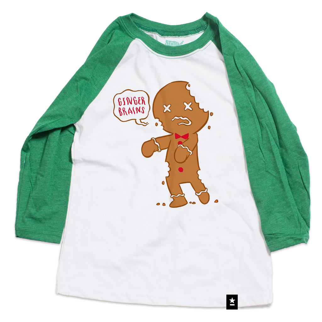 Gingerbread Zombie Raglan T-shirt - Kids