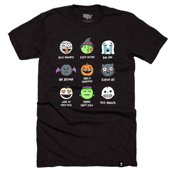 Halloween Emojis T-shirt - Pre-order - Stately Type