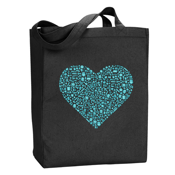 I Heart Teaching Tote - Stately Type