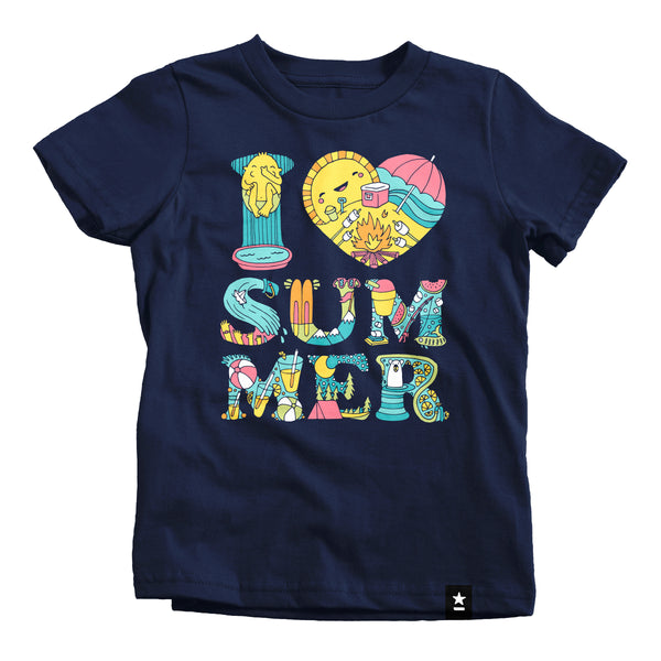 I Love Summer T-shirt - Kids - Stately Type