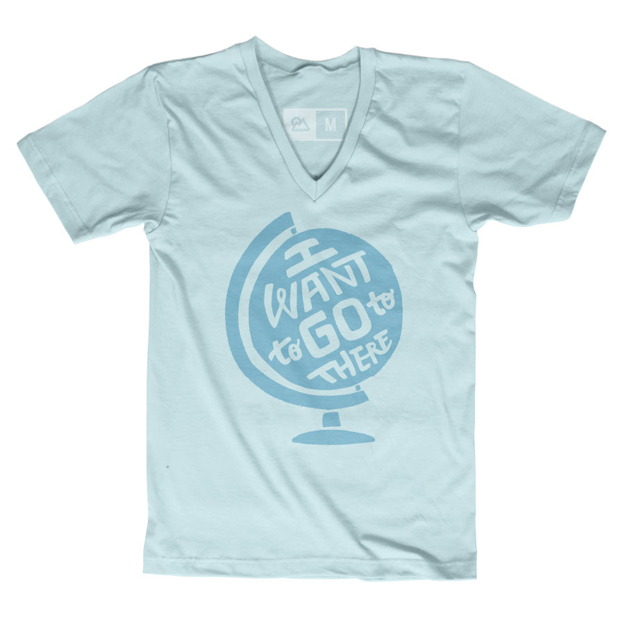 """I Want to Go to There"" Globe T-shirt - The Outdoor Majestic"