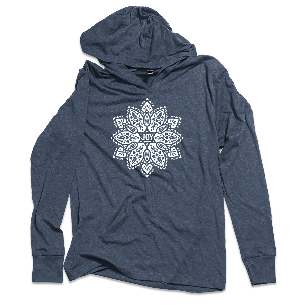Joy Poinsettia Hooded T-shirt