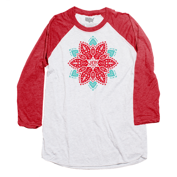 Joy Poinsettia Raglan T-shirt