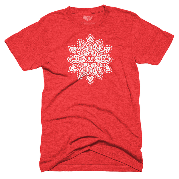 Joy Poinsettia T-shirt - Red