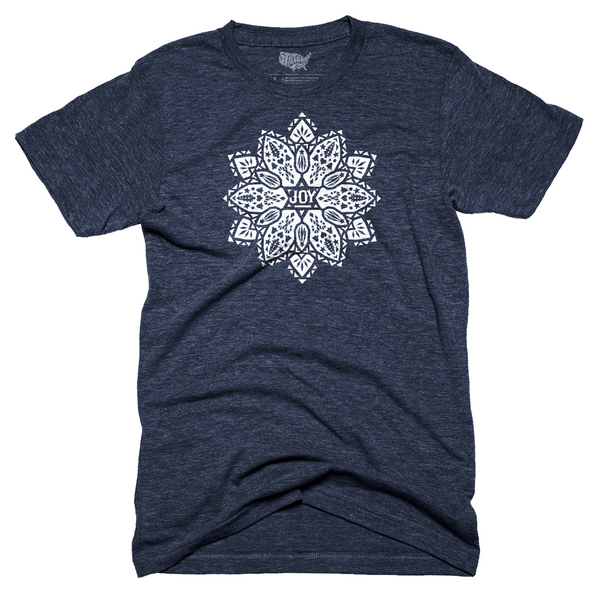 Joy Poinsettia T-shirt - Navy